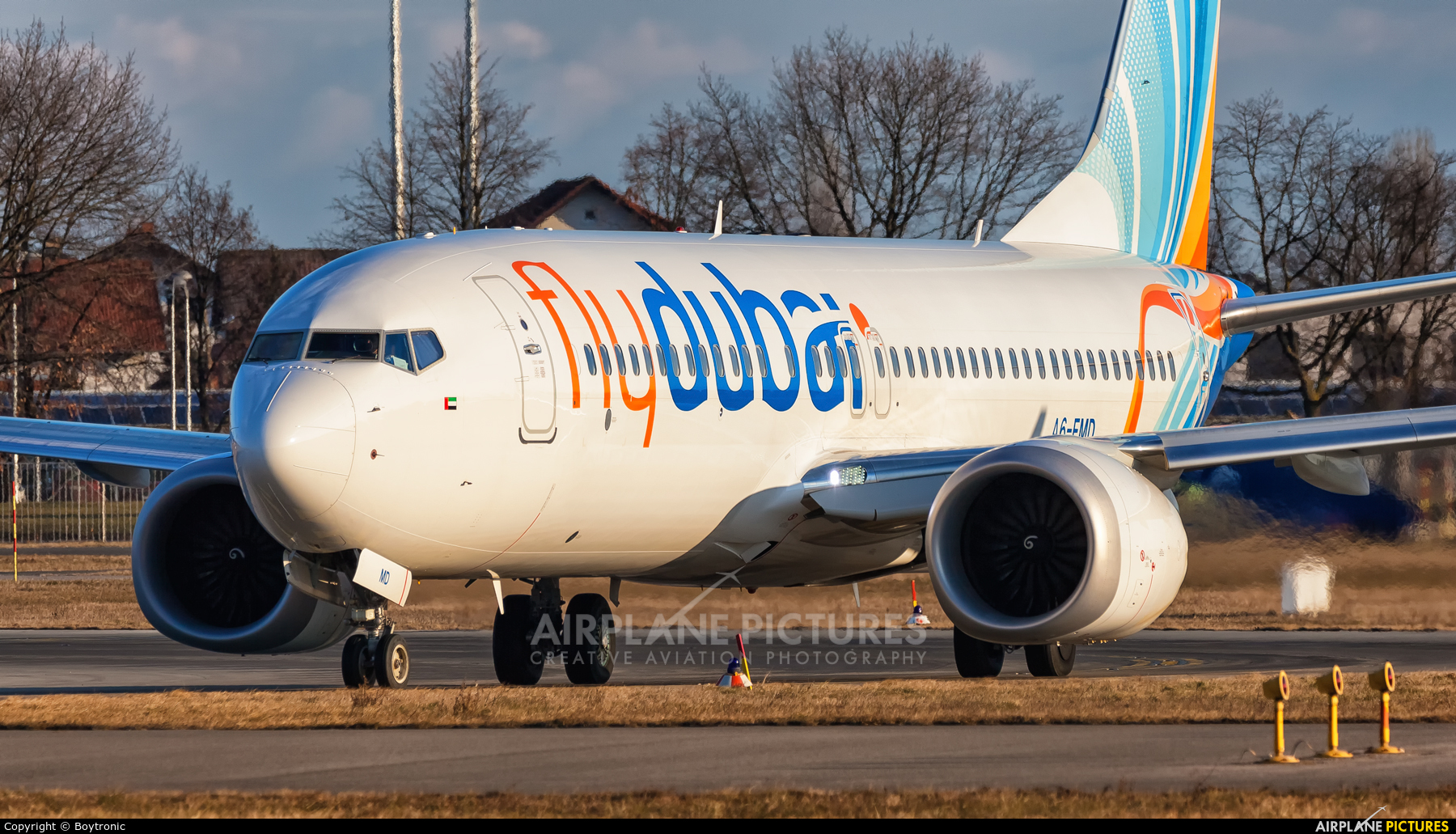 flyDubai A6-FMD aircraft at Zagreb