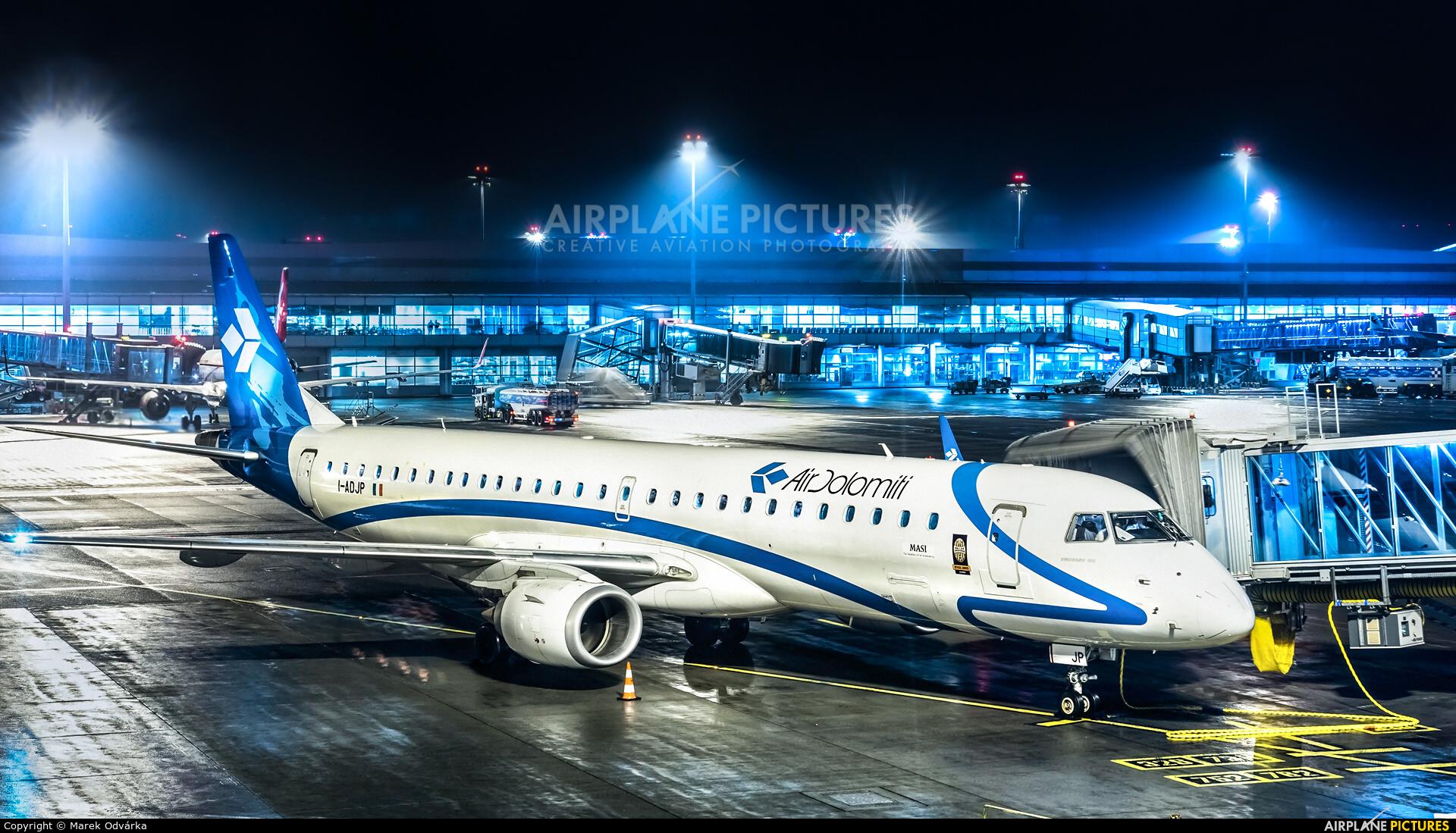 Air Dolomiti I-ADJP aircraft at Prague - Václav Havel