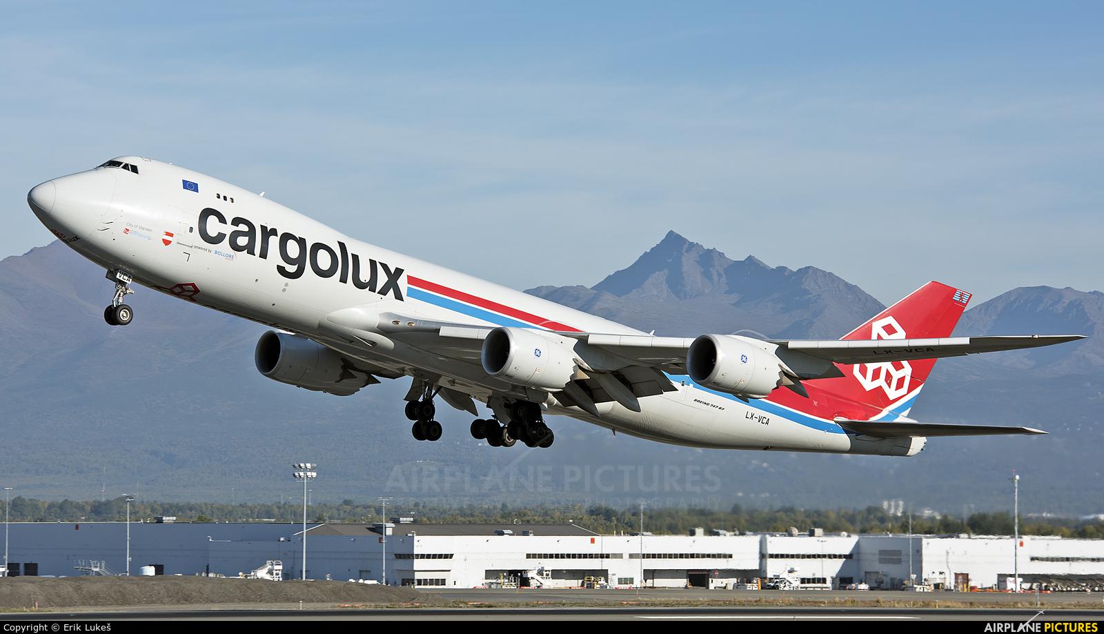 Cargolux LX-VCA aircraft at Anchorage - Ted Stevens Intl / Kulis Air National Guard Base