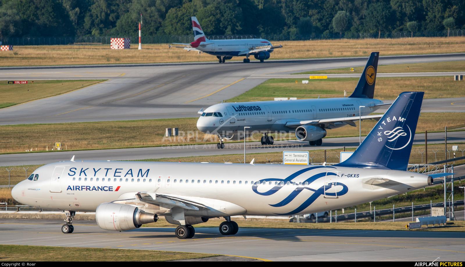 Air France F-GKXS aircraft at Munich