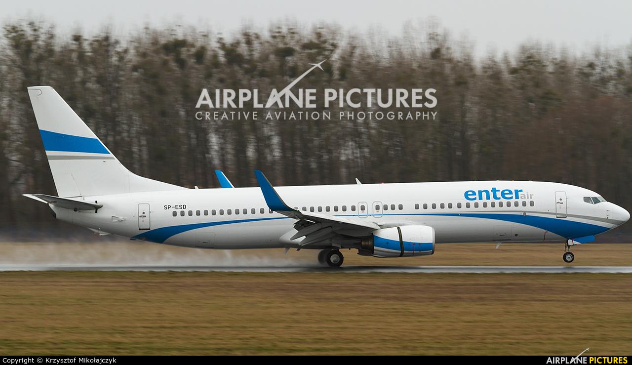 Enter Air SP-ESD aircraft at Wrocław - Copernicus