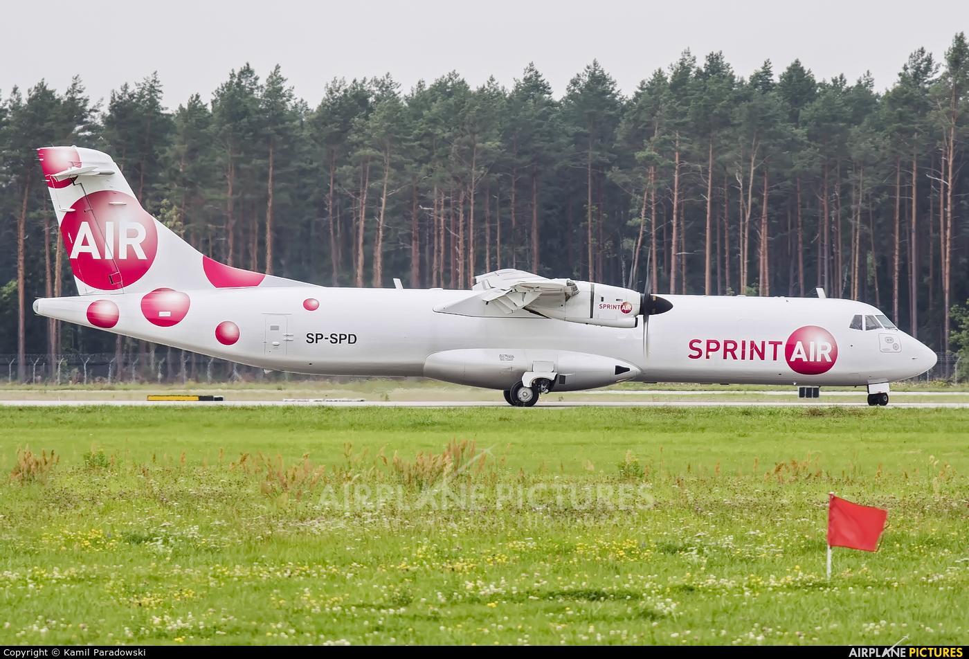 Sprint Air SP-SPD aircraft at Olsztyn Mazury Airport (Szymany)