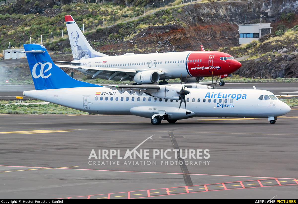 Air Europa Express EC-MUJ aircraft at Santa Cruz de La Palma