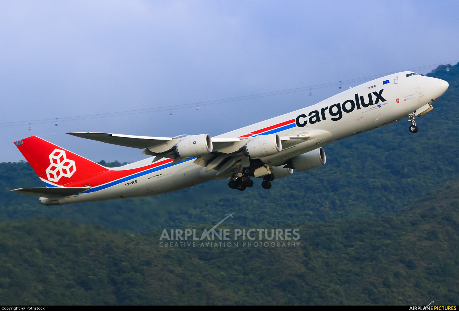 Cargolux LX-VCG aircraft at HKG - Chek Lap Kok Intl
