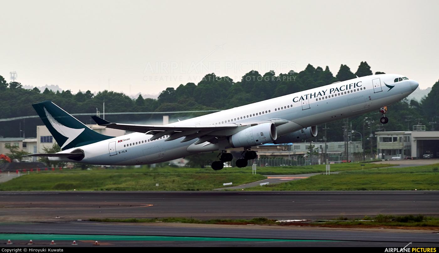 Cathay Pacific B-HLM aircraft at Tokyo - Narita Intl