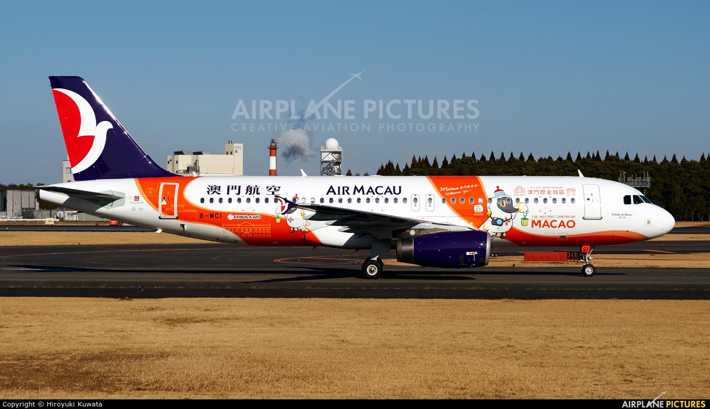 Air Macau B-MCI aircraft at Tokyo - Narita Intl