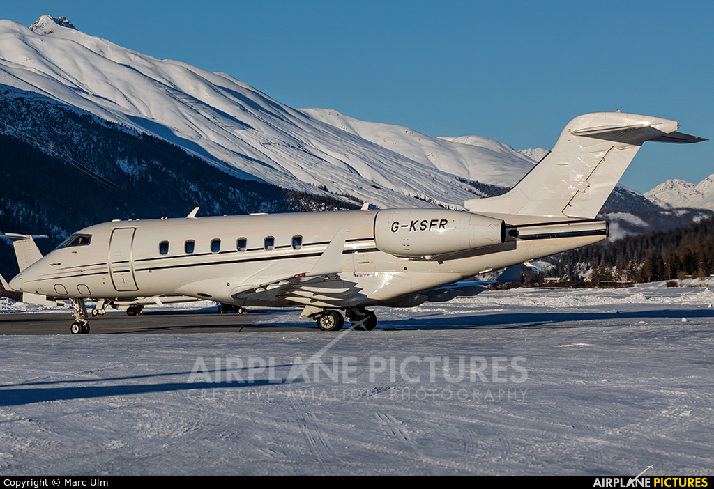 London Executive Aviation G-KSFR aircraft at Samedan - Engadin