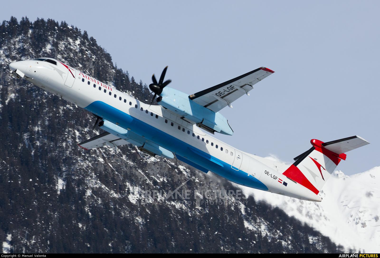 Austrian Airlines/Arrows/Tyrolean OE-LGF aircraft at Innsbruck