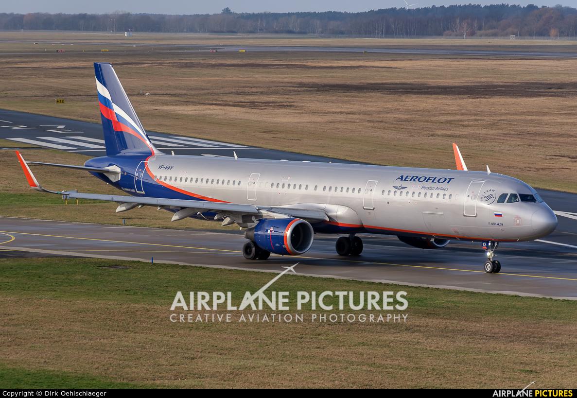 Aeroflot VP-BAV aircraft at Hannover - Langenhagen