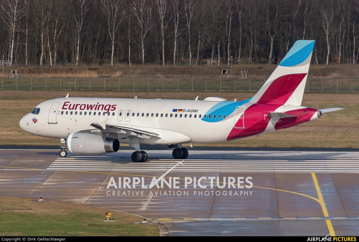 Eurowings D-AGWI aircraft at Hannover - Langenhagen