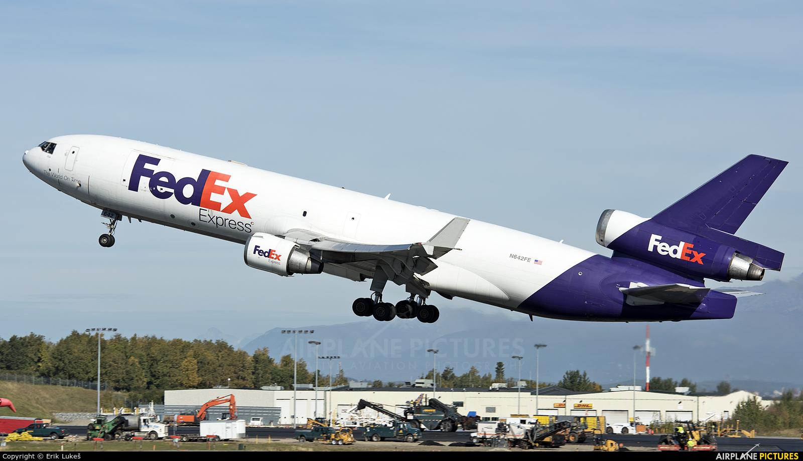 FedEx Federal Express N642FE aircraft at Anchorage - Ted Stevens Intl / Kulis Air National Guard Base