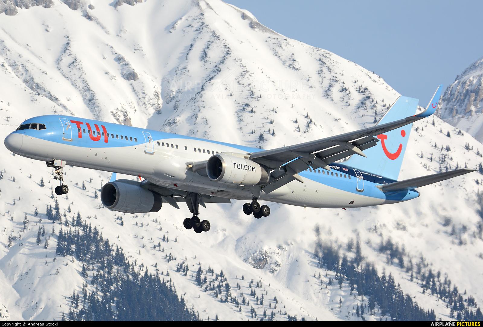TUI Airways G-OOBP aircraft at Innsbruck