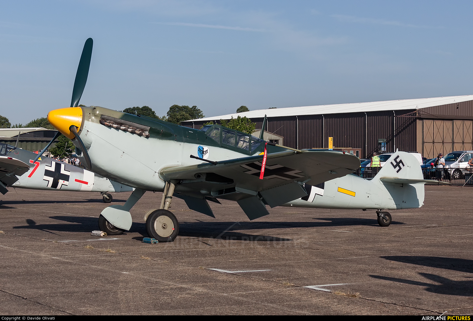 Historic Flying G-BWUE aircraft at Duxford