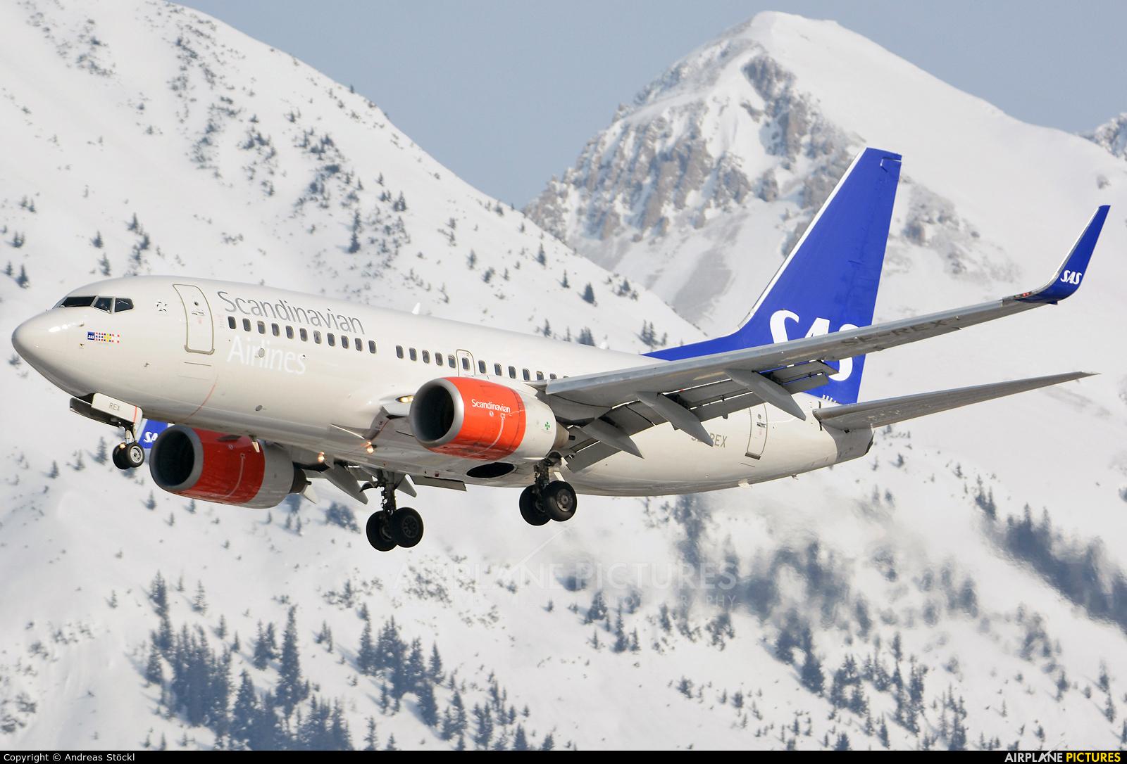 SAS - Scandinavian Airlines SE-REX aircraft at Innsbruck