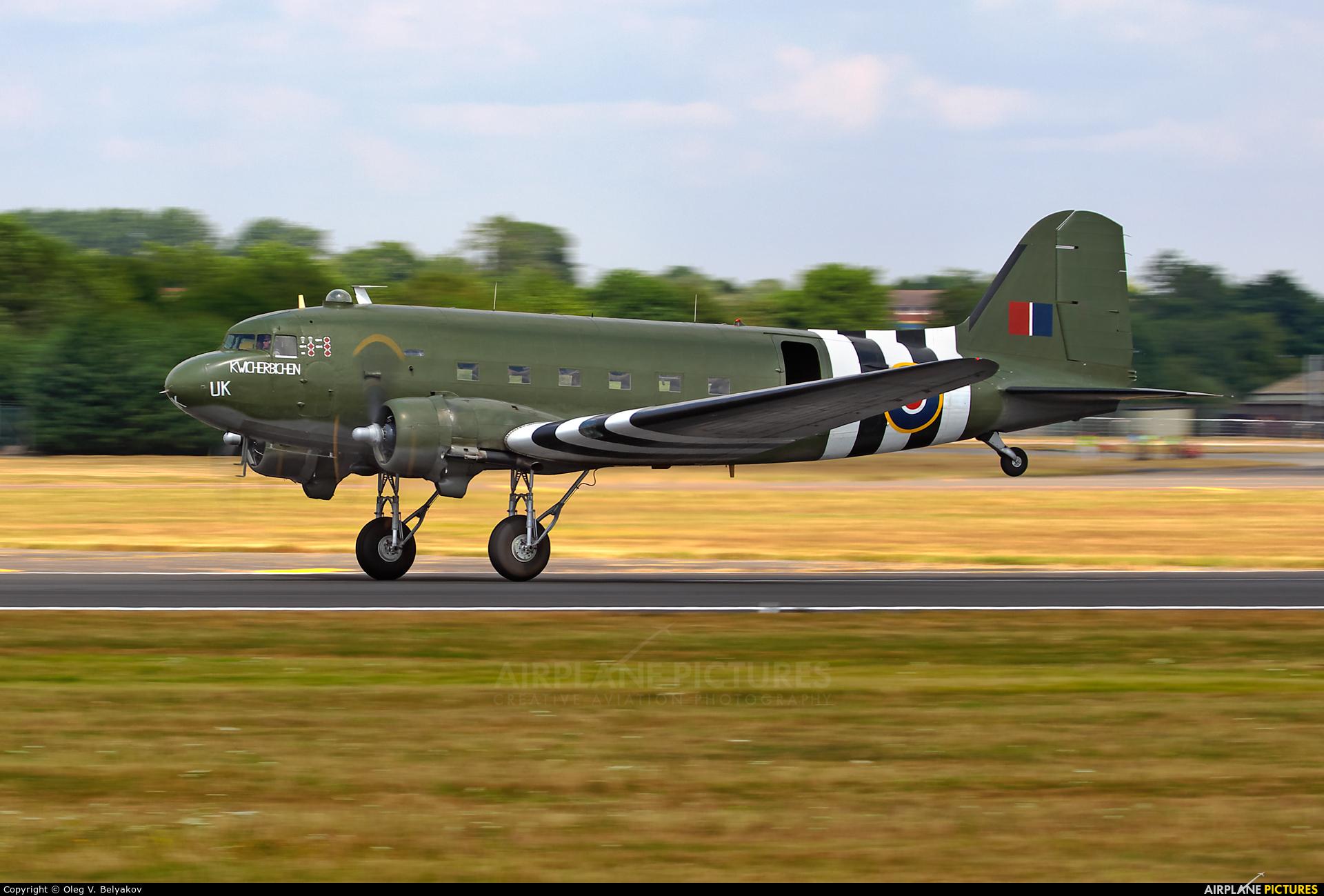 """Royal Air Force """"Battle of Britain Memorial Flight"""" ZA947 aircraft at Fairford"""