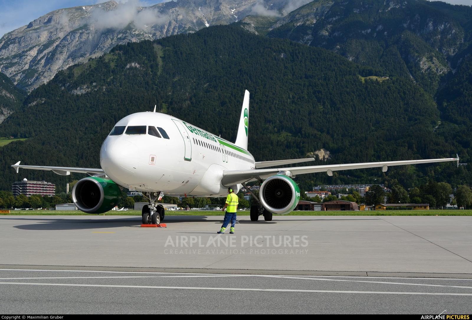 Germania D-ASTJ aircraft at Innsbruck
