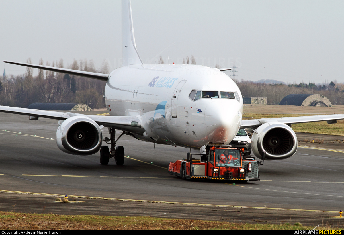ASL Airlines Belgium OE-IAZ aircraft at Liège-Bierset