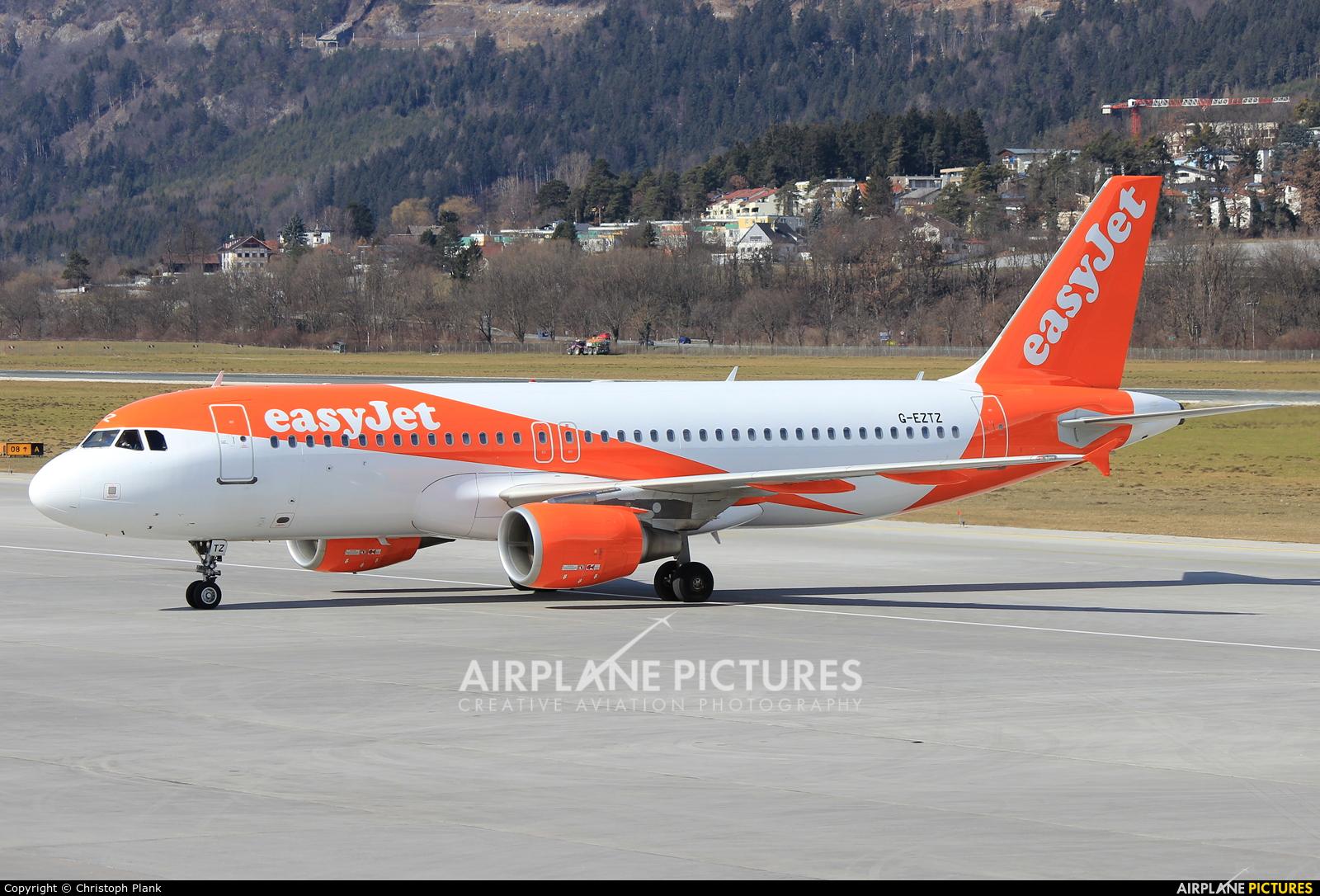 easyJet G-EZTZ aircraft at Innsbruck