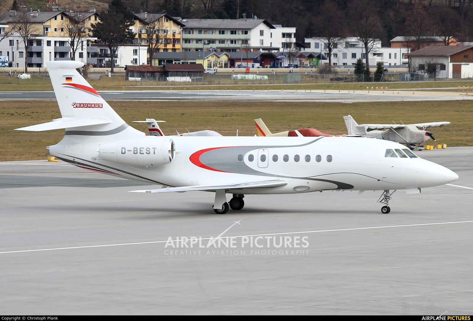 Bauhaus D-BEST aircraft at Innsbruck