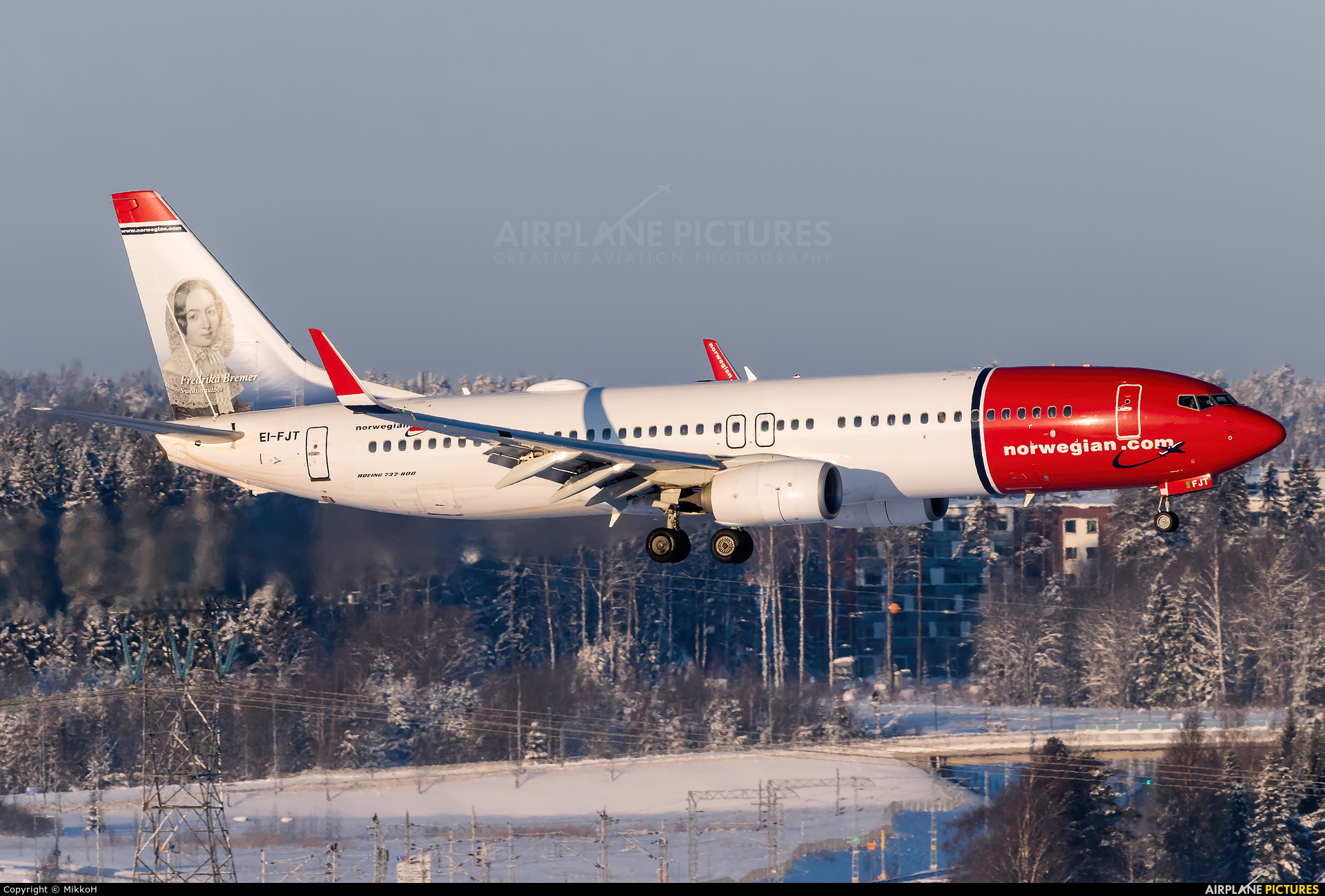Norwegian Air International EI-FJT aircraft at Helsinki - Vantaa