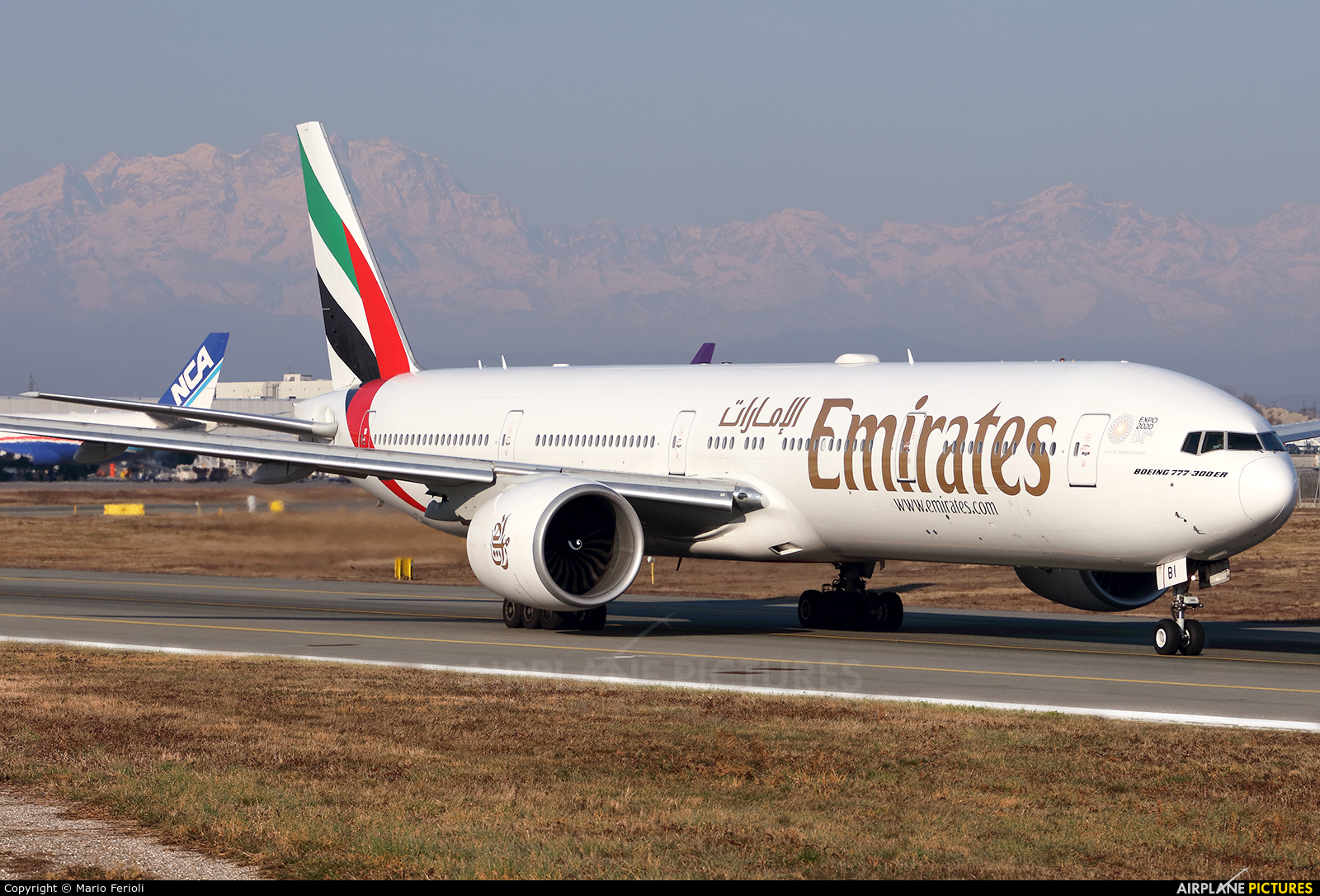 Emirates Airlines A6-EBI aircraft at Milan - Malpensa