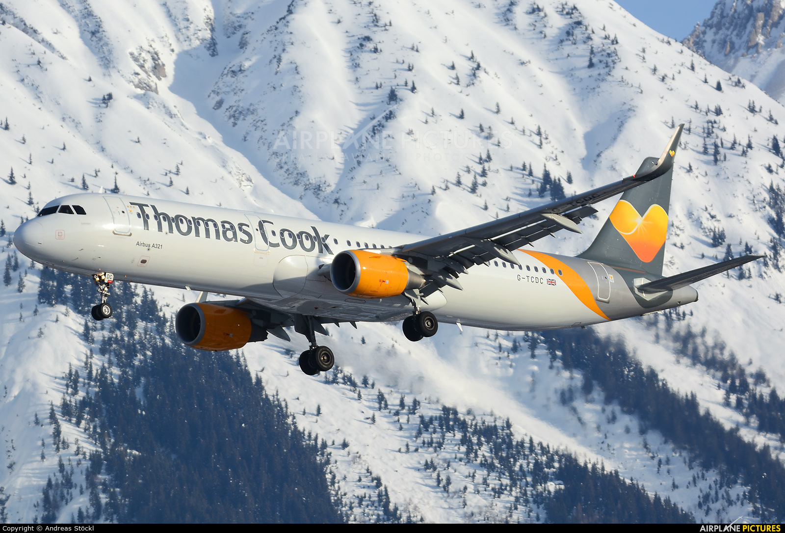 Thomas Cook G-TCDC aircraft at Innsbruck