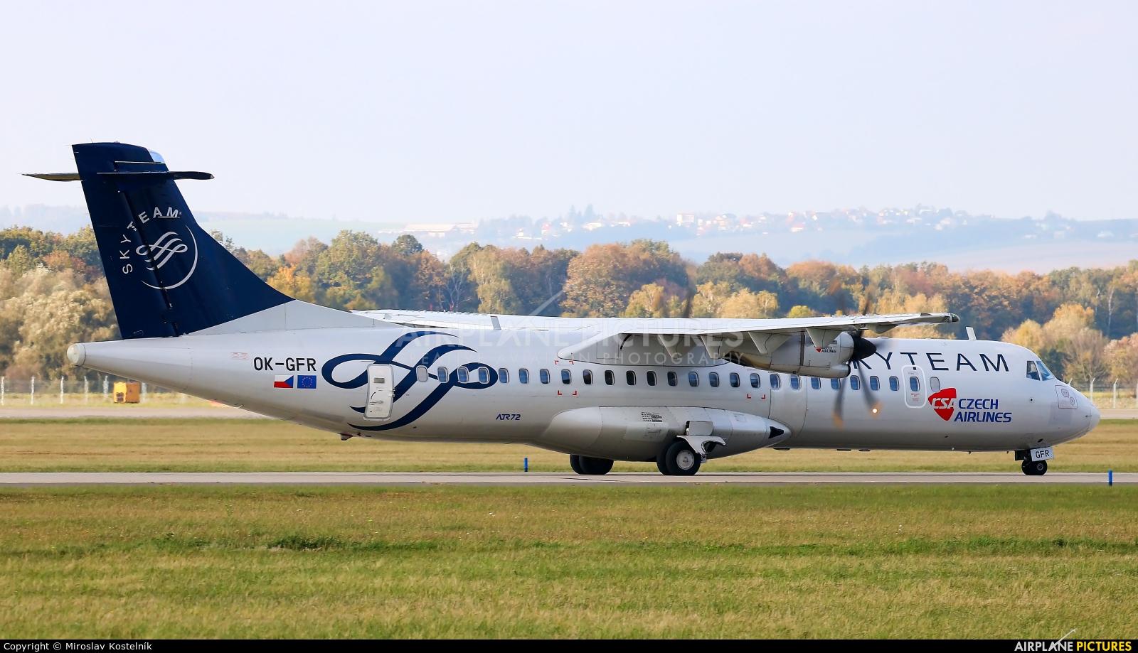 CSA - Czech Airlines OK-GFR aircraft at Ostrava Mošnov