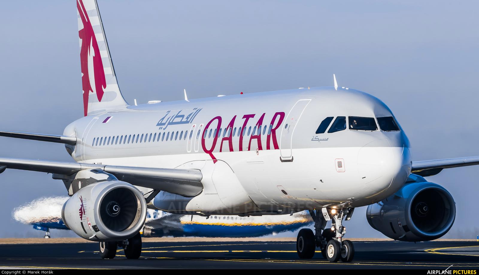 Qatar Airways A7-AHY aircraft at Prague - Václav Havel