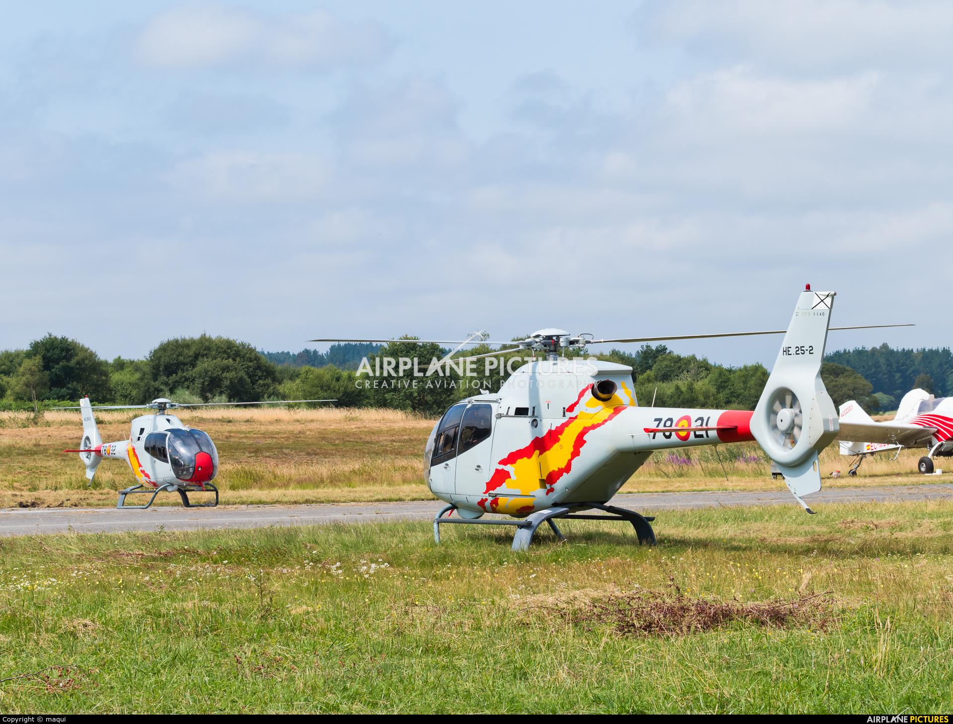 Spain - Air Force: Patrulla ASPA HE.25-2 aircraft at Lugo - Rozas