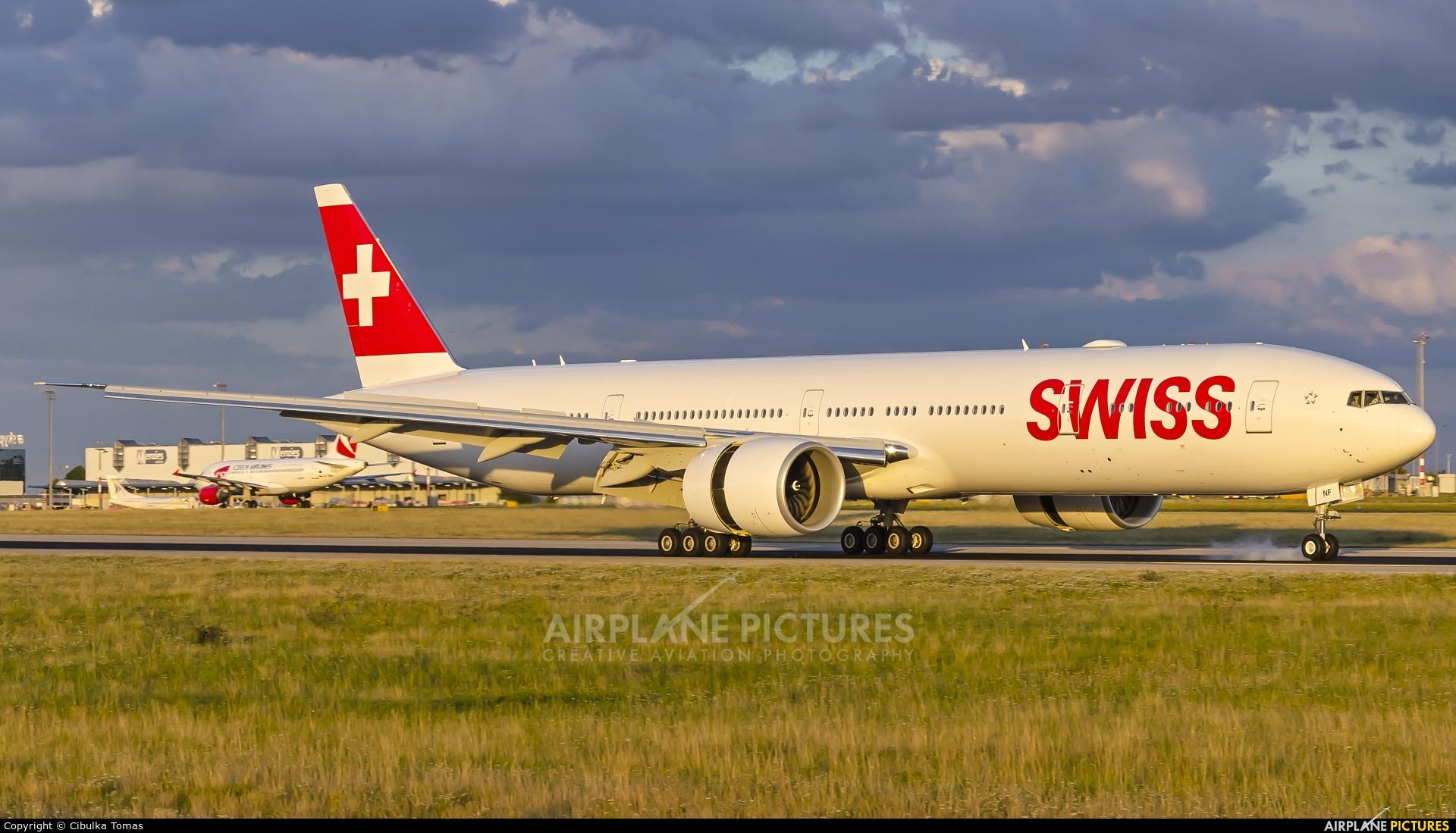 Swiss HB-JNF aircraft at Prague - Václav Havel