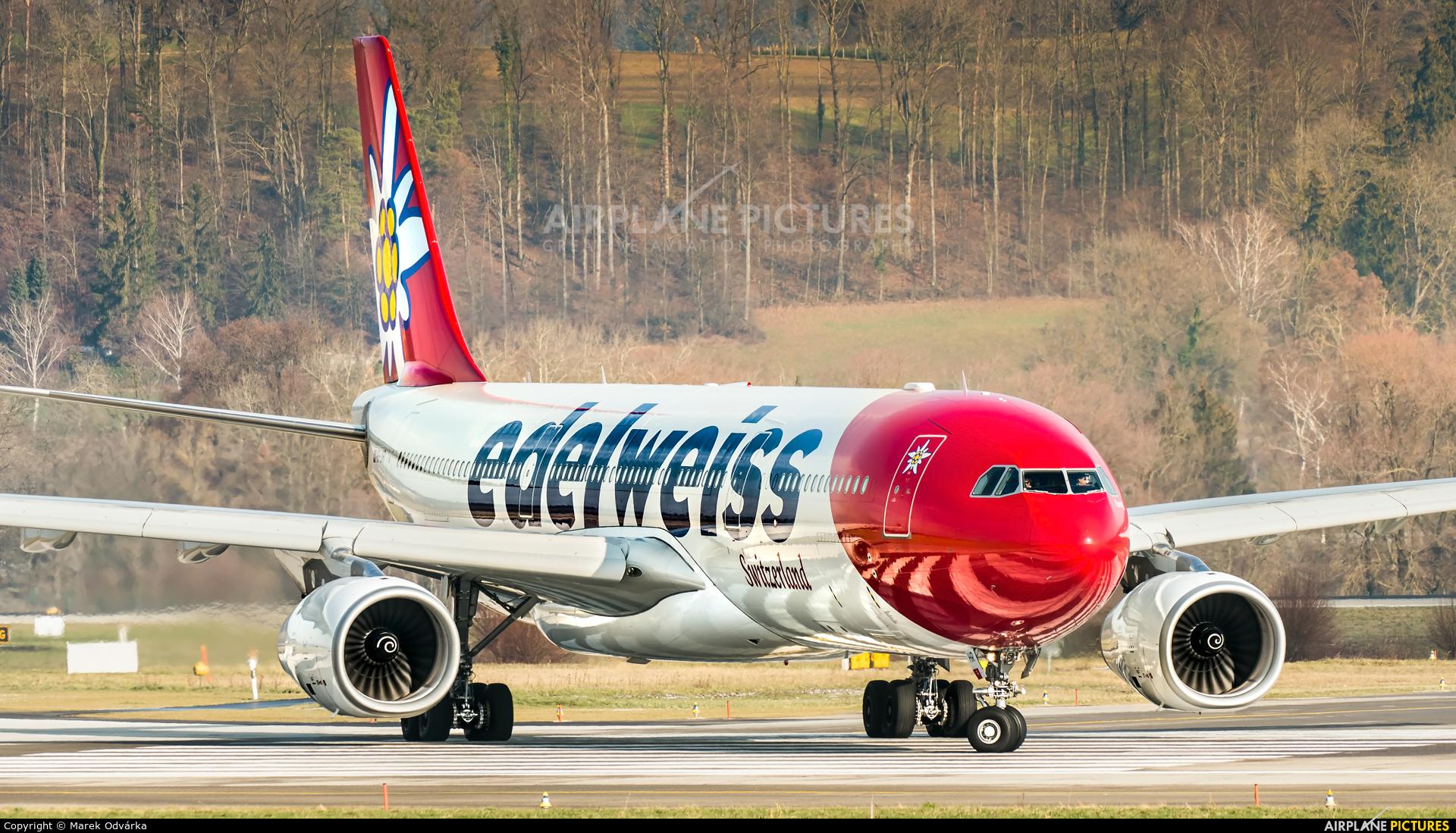 Edelweiss HB-JHR aircraft at Zurich