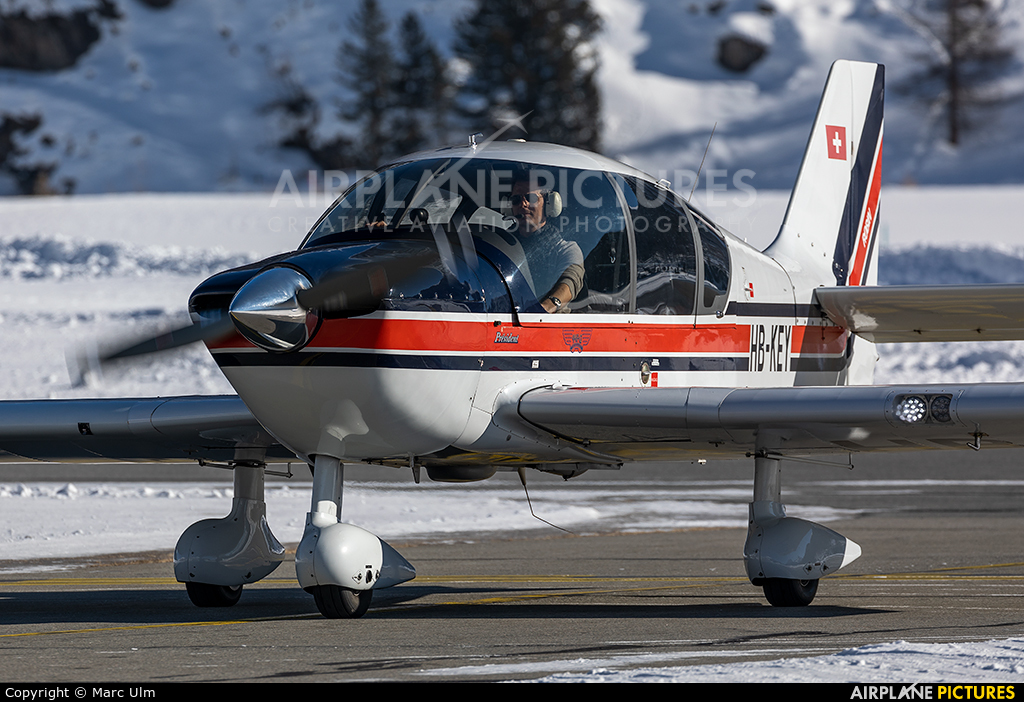 Private HB-KEY aircraft at Samedan - Engadin