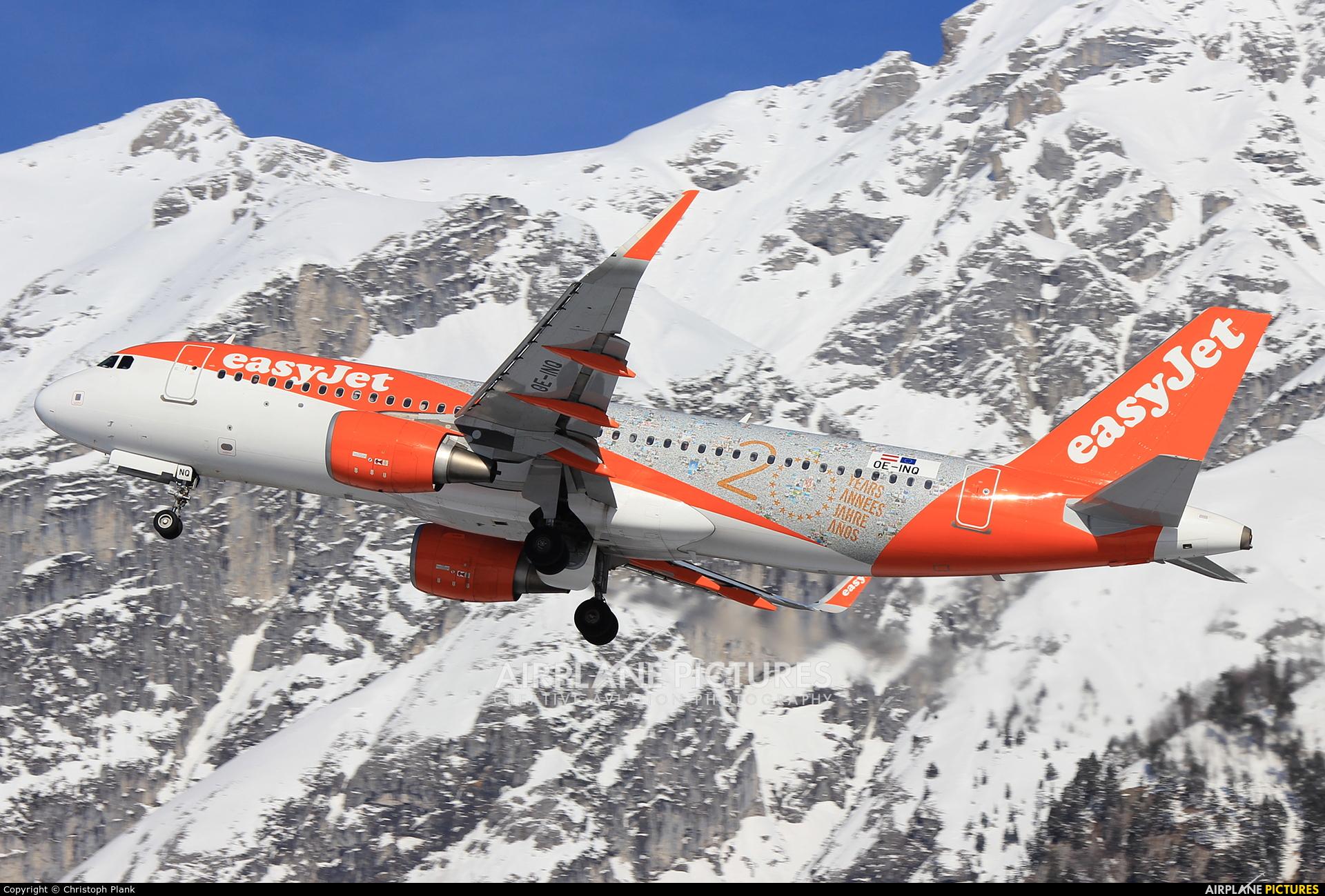 easyJet Europe OE-INQ aircraft at Innsbruck