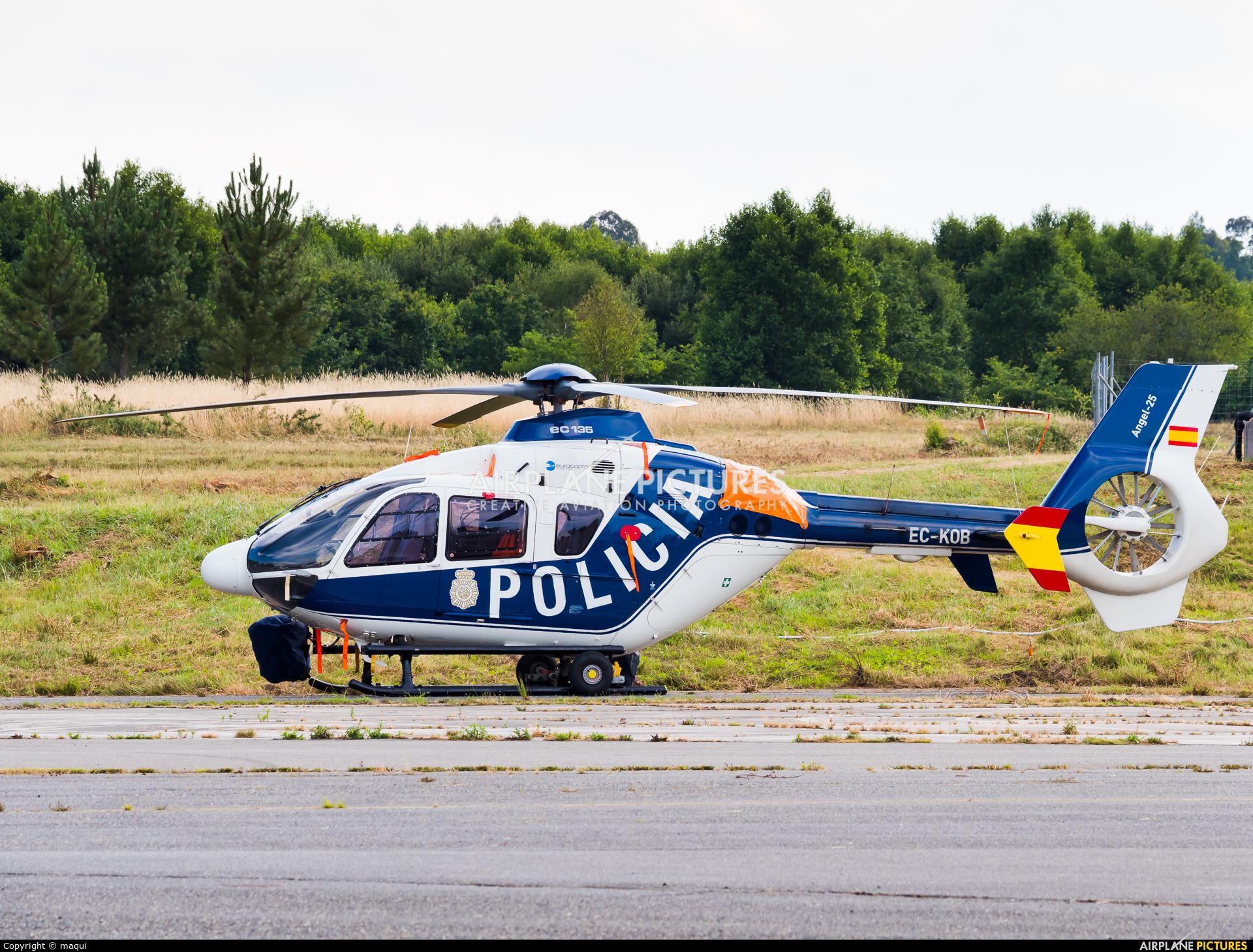 Spain - Police EC-KOB aircraft at Lugo - Rozas