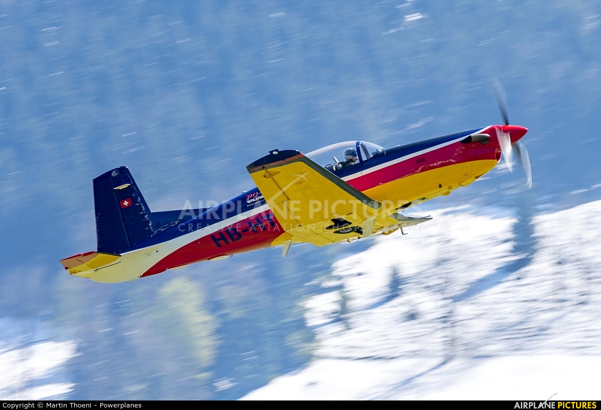 Private HB-HTC aircraft at Buochs