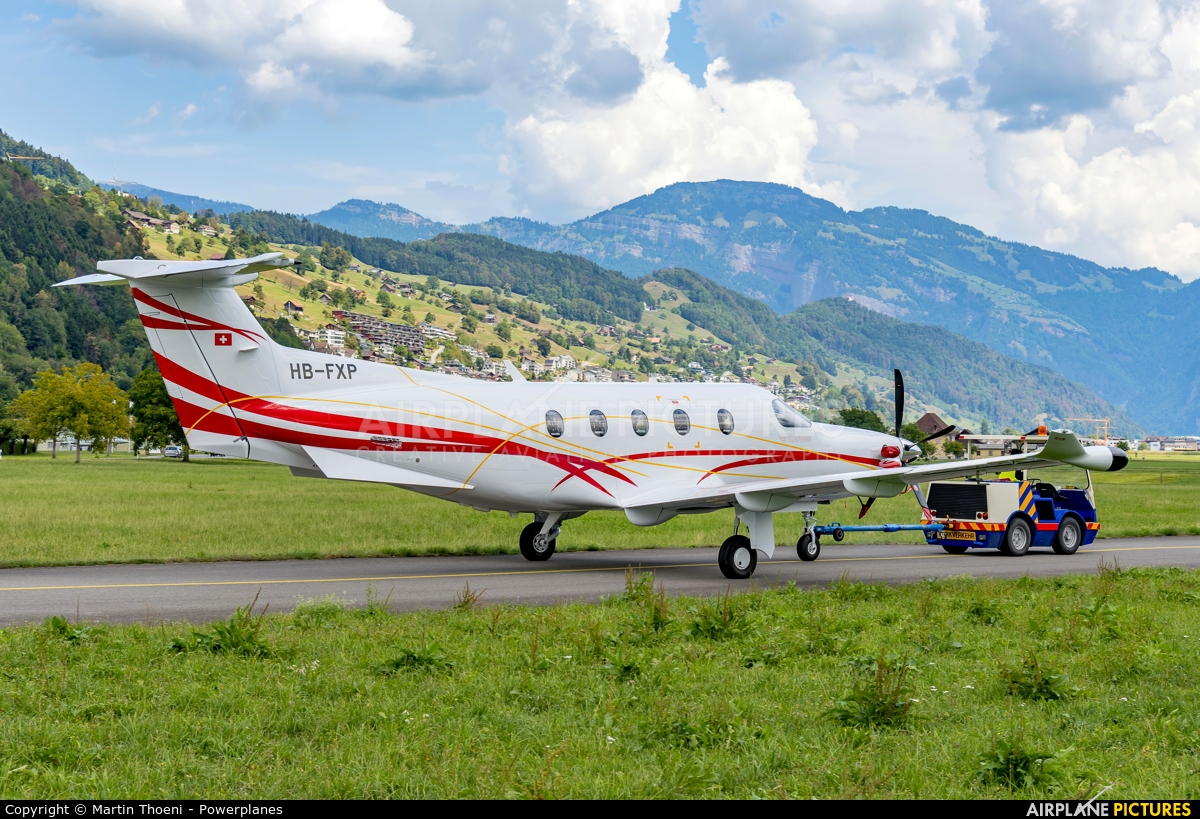 Switzerland - Air Force HB-FXP aircraft at Buochs