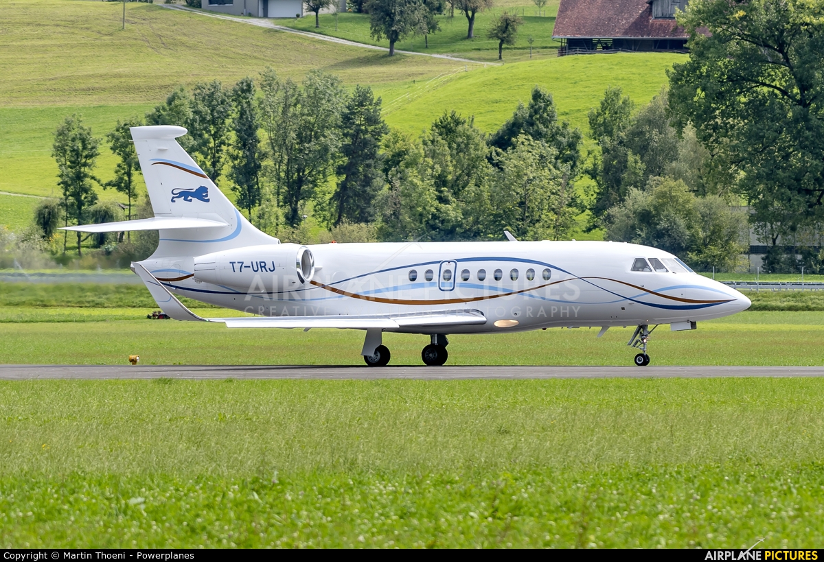 ExecuJet Middle East  T7-URJ aircraft at Buochs