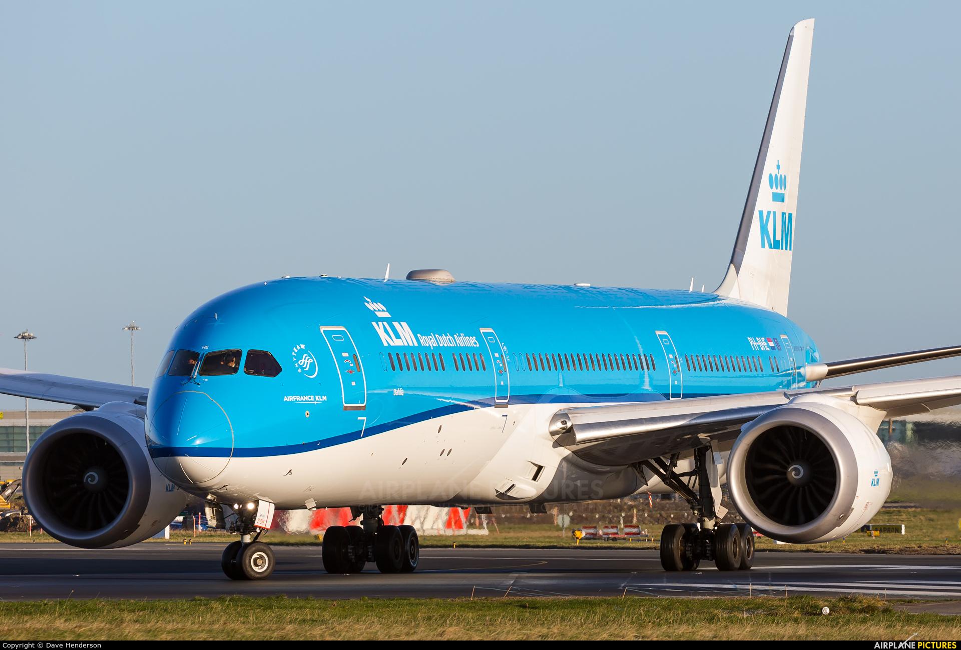 KLM PH-BHE aircraft at Dublin