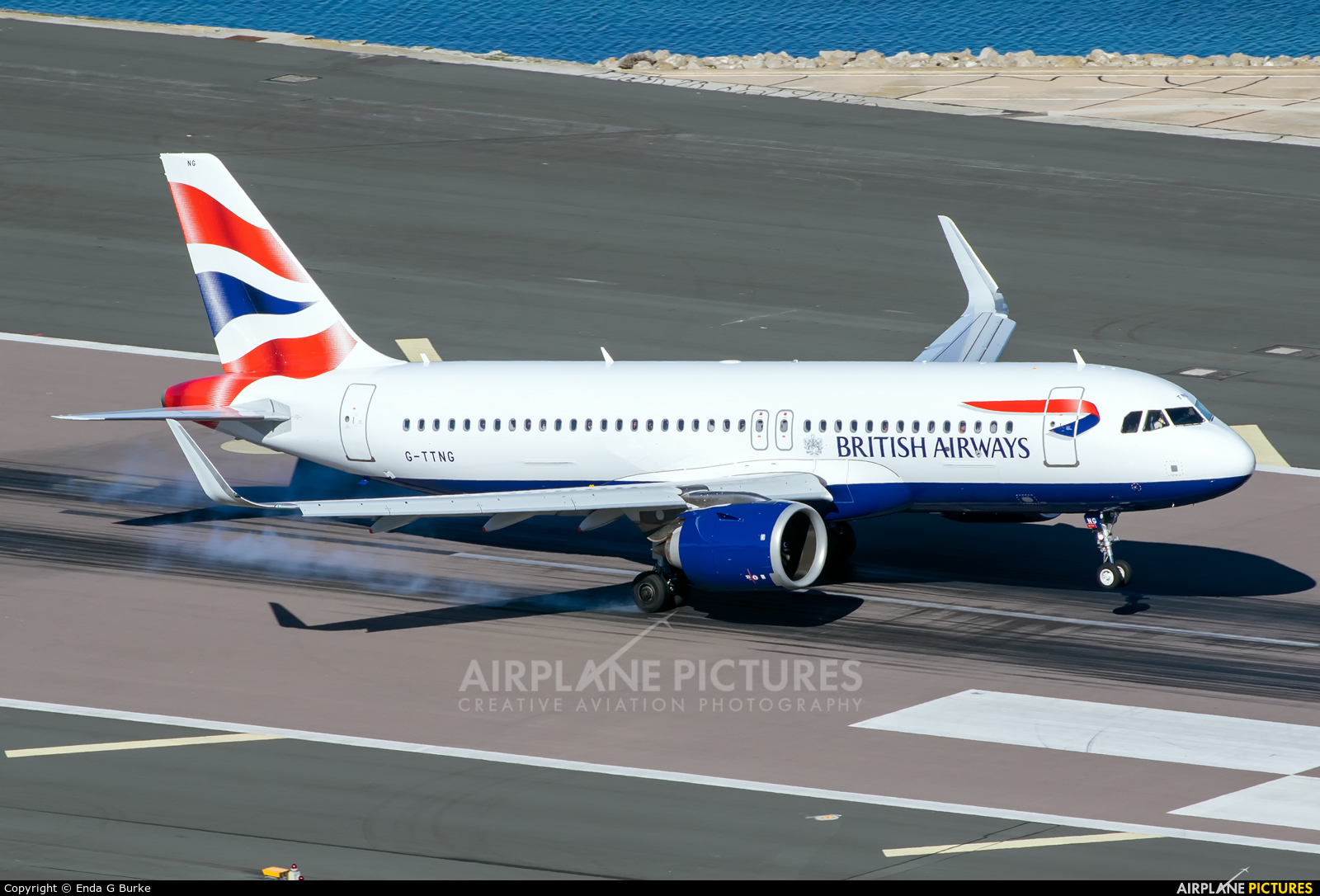 British Airways G-TTNG aircraft at Gibraltar