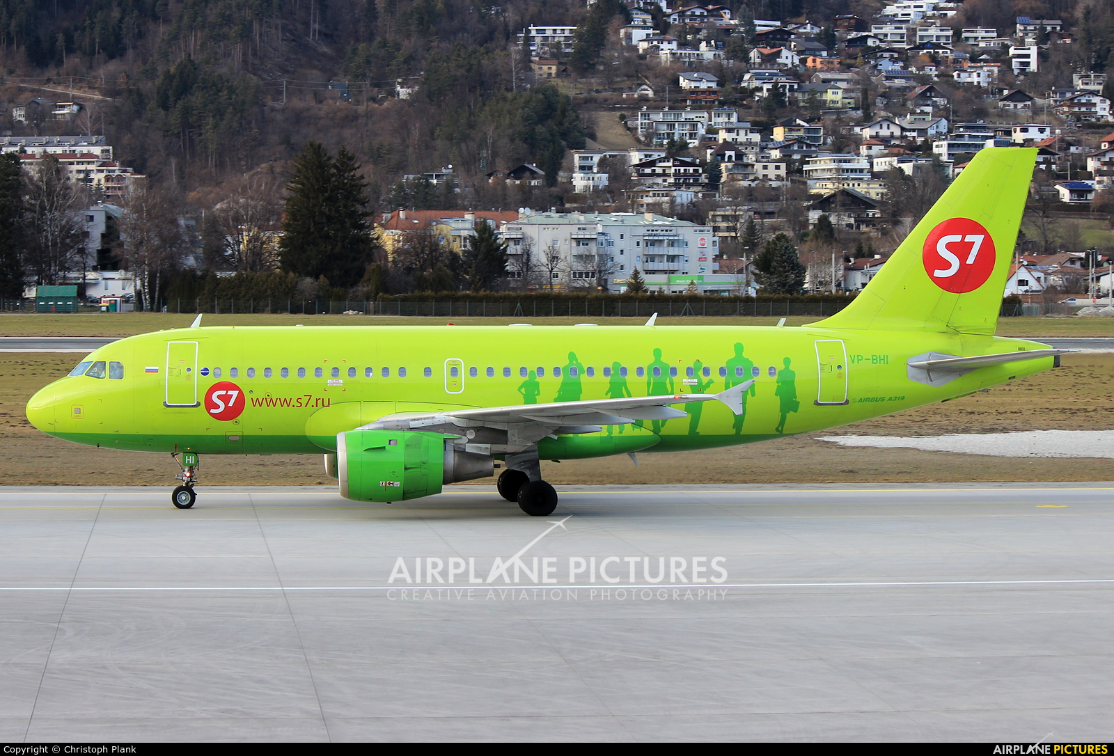 S7 Airlines VP-BHI aircraft at Innsbruck