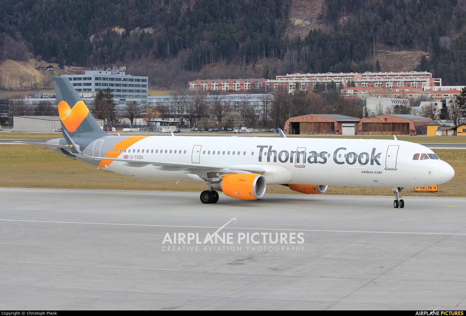 Thomas Cook G-TCDO aircraft at Innsbruck
