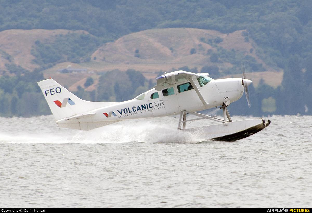 Volcanic Air Safaris ZK-FEO aircraft at Lake Rotorua