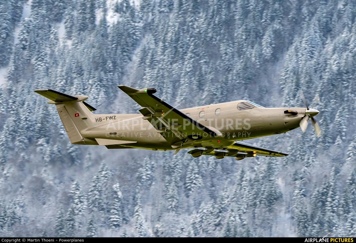 Pilatus HB-FWZ aircraft at Buochs