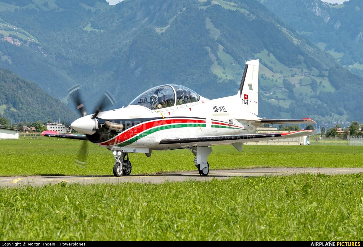 Pilatus HB-HXE aircraft at Buochs