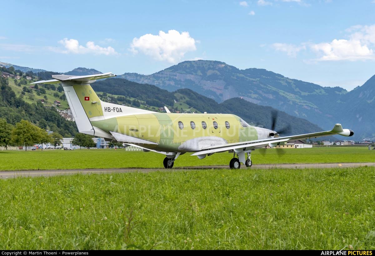Private HB-FQA aircraft at Buochs