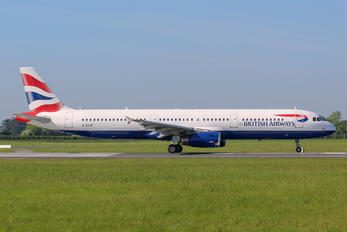 G-EUXF - British Airways Airbus A321