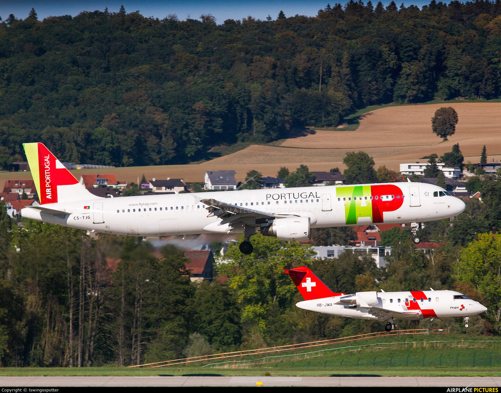 TAP Portugal CS-TJG aircraft at Zurich