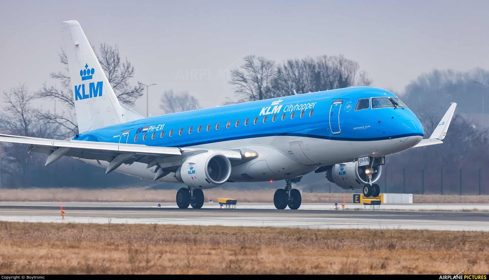 KLM Cityhopper PH-EXI aircraft at Zagreb