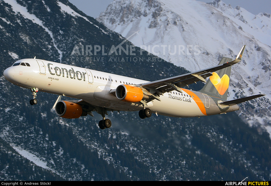 Thomas Cook G-TCDR aircraft at Innsbruck
