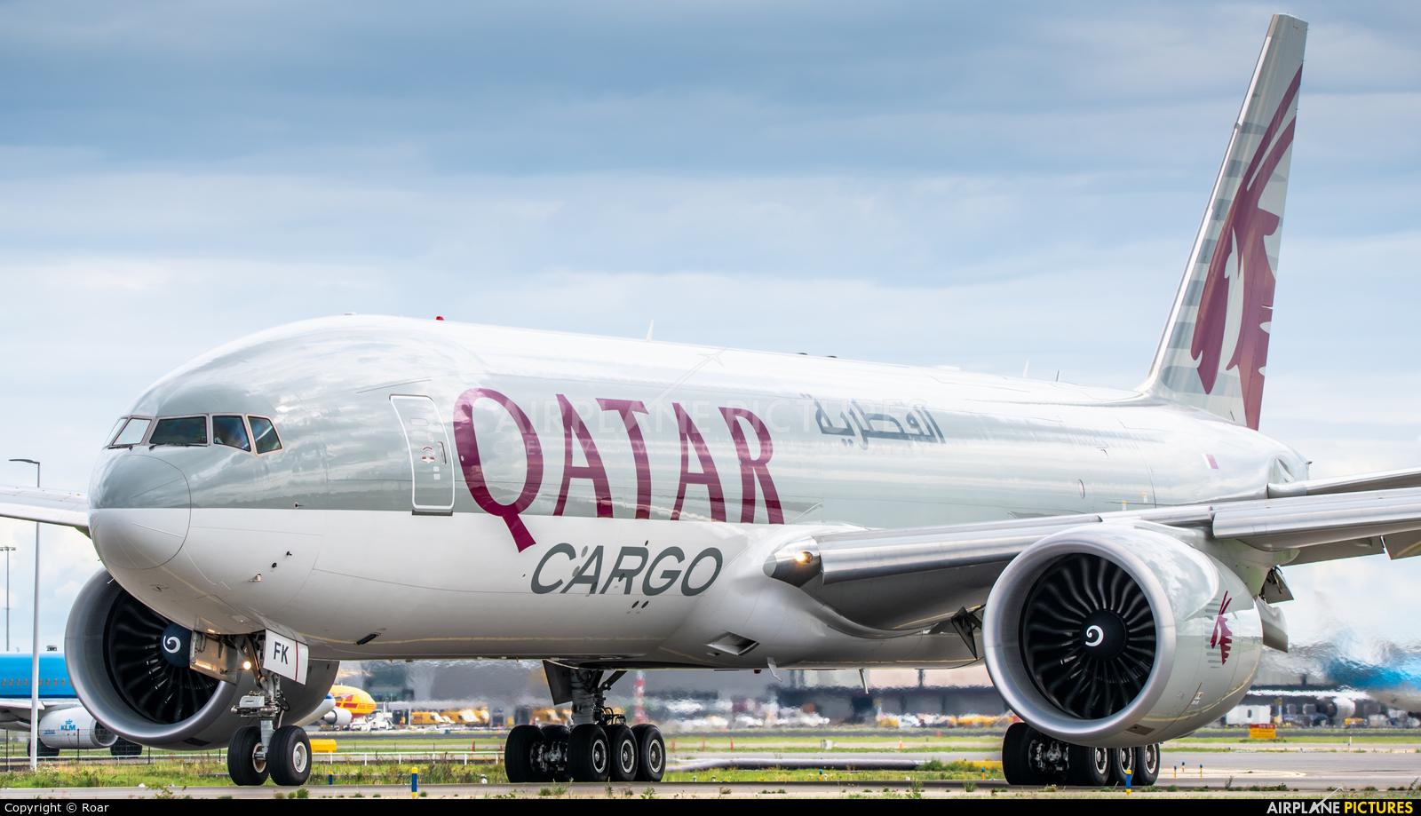 Qatar Airways Cargo A7-BFK aircraft at Amsterdam - Schiphol